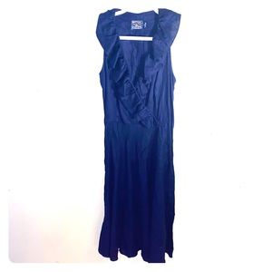 American Living denim ruffle dress size 8